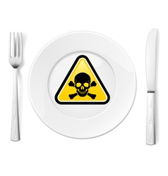 Dangerous food vector