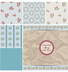 Vintage retro patterns vector