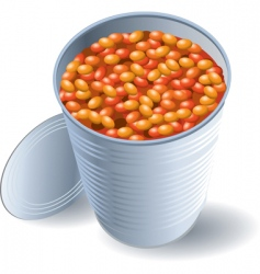 Can of beans vector
