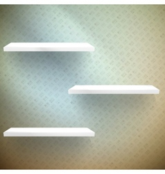 Big sale 3d shelves and shelf for advertising vector