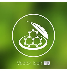 Color molecule icons set with shadow isolated vector