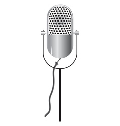 Retro microphone icon isolated on white vector