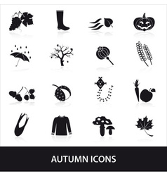 Autumn icons set eps10 vector
