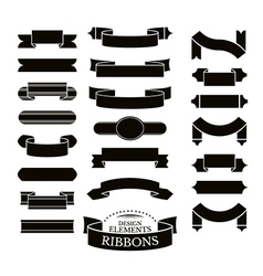 Collection of different ribbons vector