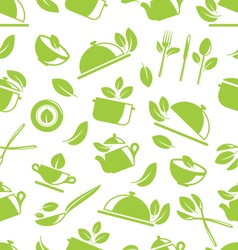 Seamless pattern with healthy eating vector