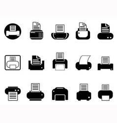 Printer icons set vector