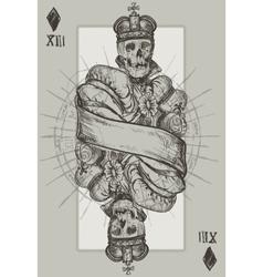 Skeleton king vector