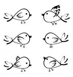Birds set vector