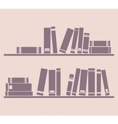 Books on the shelf school or library vector