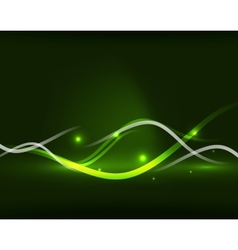 Abstract glowing lines vector