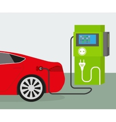 Electric car charging vector