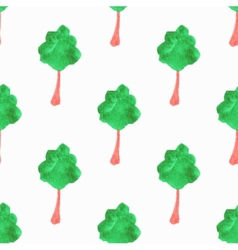 Seamless pattern with trees hand-drawn background vector
