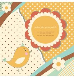 Vintage baby card vector