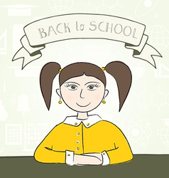 School student vector