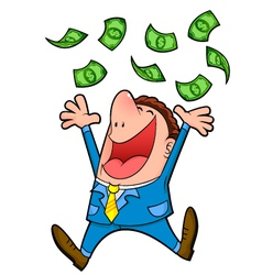 Raining money vector