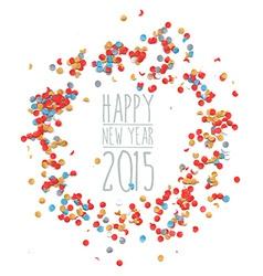 New year 2015 confetti celebration vector