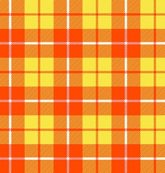 Orange and yellow tartan fabric texture in a vector