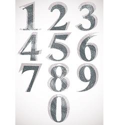 Vintage style numbers typeset vector