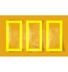 Set of frames with different shadows vector