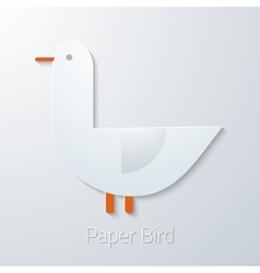 Summer travel paper seagull bird flat icon vector