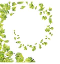 Green leaves frame isolated on white eps 10 vector