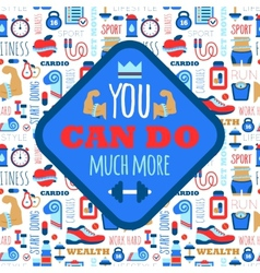 You can do much more phrase on fitness seamless vector