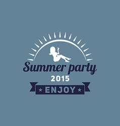 Retro summer vintage label on dark background vector