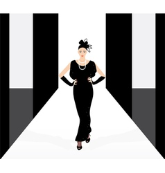 Fashion model on the podium vector