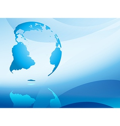 Blue abstract background with continents vector