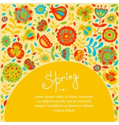 Spring card for congratulations vector
