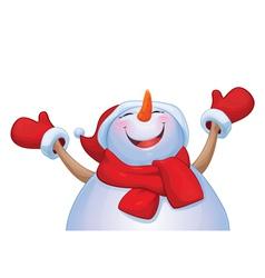 Snowman happy vector