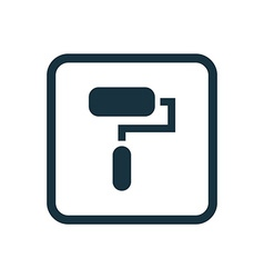 Paint roller icon rounded squares button vector