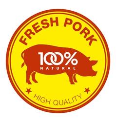 Fresh pork label vector