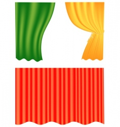 Curtain set vector
