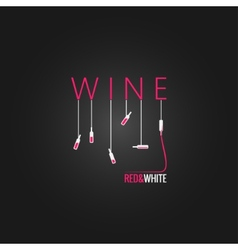 Wine concept design background vector
