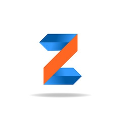 Letter z website logo design element vector