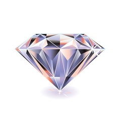 Cut diamond with shadow vector