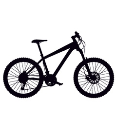 Mountain bike hardtail vector