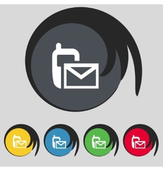 Mail icon envelope symbol message sms vector