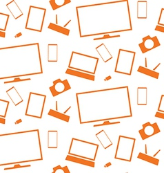 Orange household appliances and electronics tablet vector