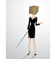 Square head business woman vector