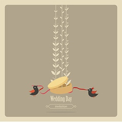 Wedding invitation greeting card vector