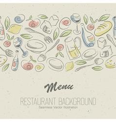 Restaurant menu elegant vector