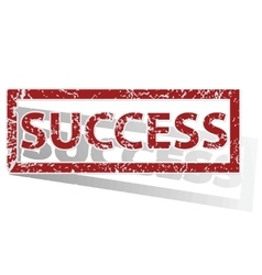 Success outlined stamp vector