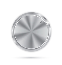 Metal button with circular processing vector