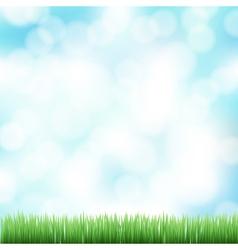 Spring bokeh background vector