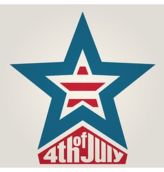 4th of july independence day background vector