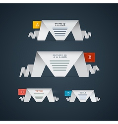 Progress steps for tutorial infographics vector