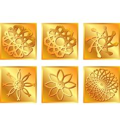 Golden square symbols vector