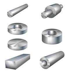 Steel products metal parts vector